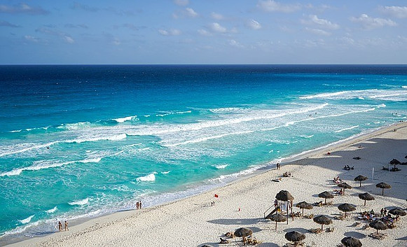 Cancun beach.