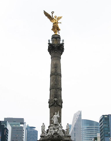 Golden angel monument in Mexico City.