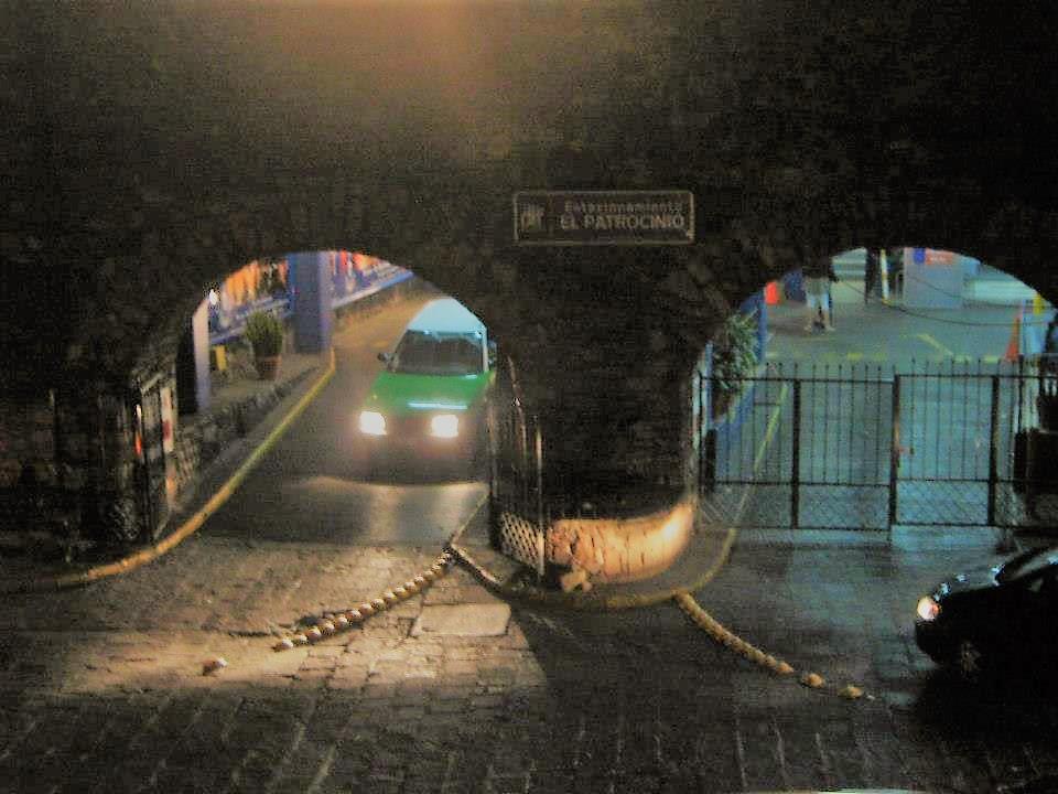Underground parking lot in Guanajuato.