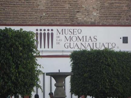 Facade of the Museo de las Momias in Guanajuato.