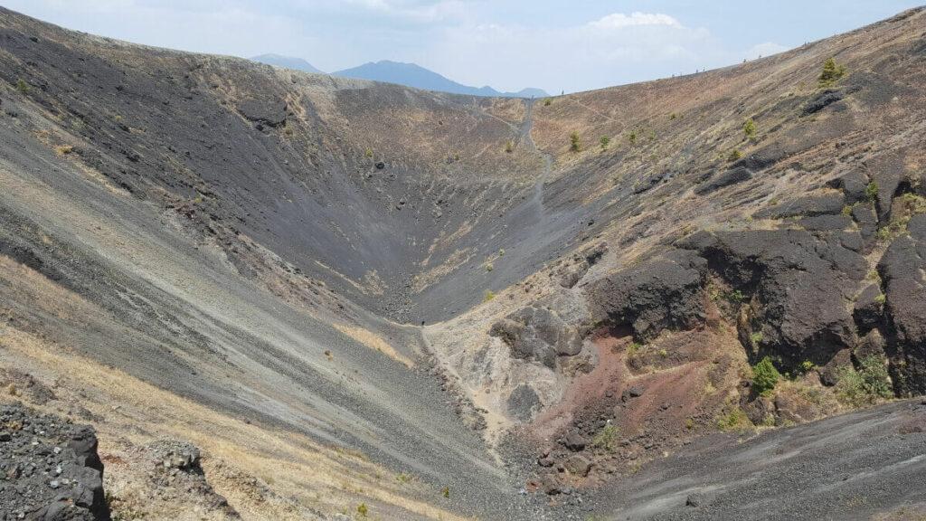 Crater of the Paricutin volcano in Michoacan, Mexico.