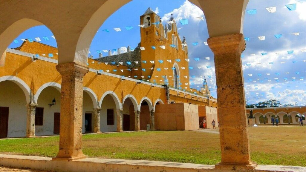 Interior of the yellow ex-convent in Izamal.