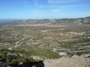View of the valley from the lookout on the way to Real de Catorce.