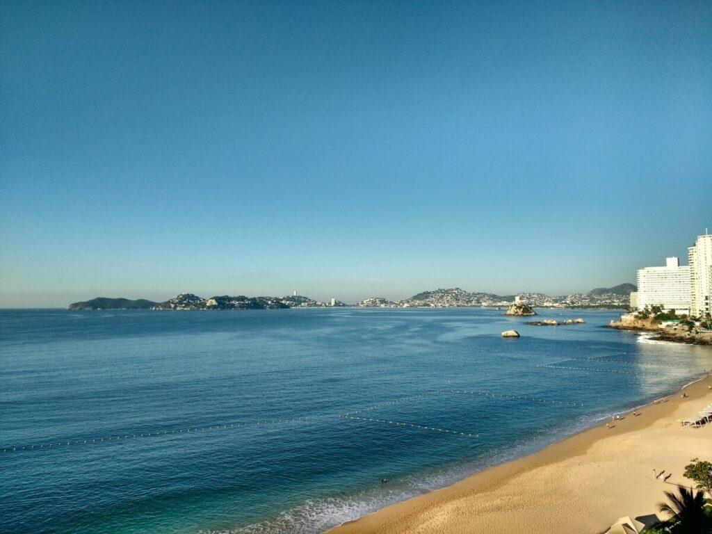 Acapulco shore.