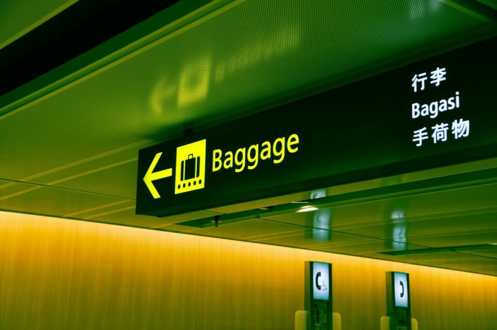 Airport baggage sign.