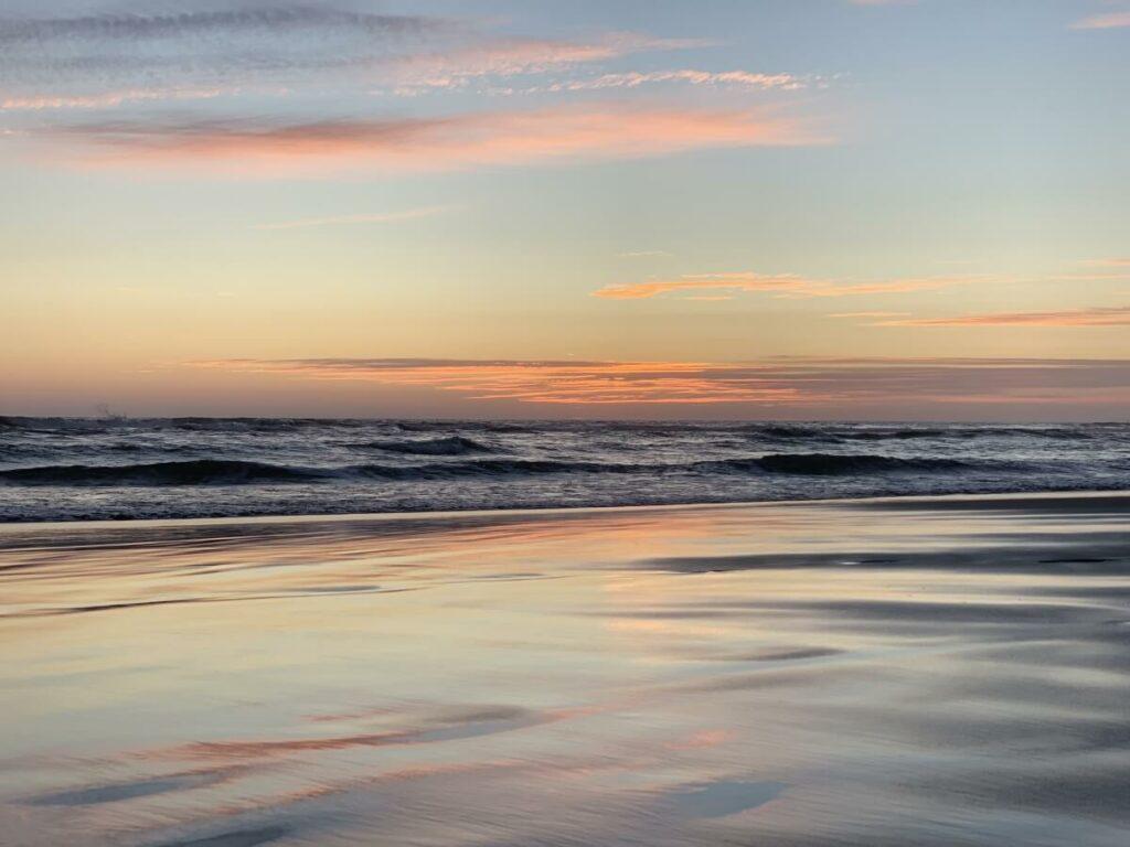 Acapulco beach at dawn.