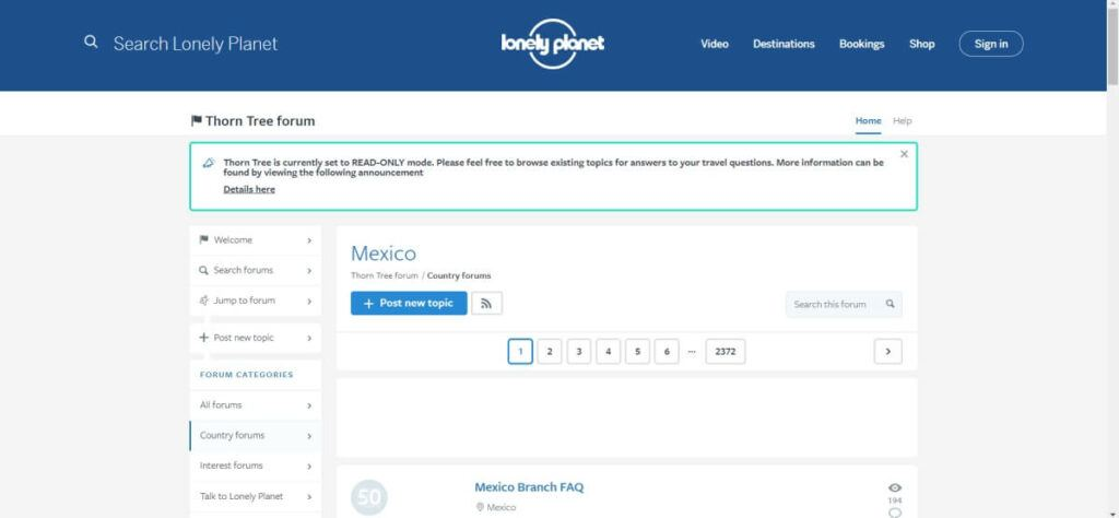 Lonely Planet Mexico travel forum