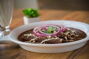 Enchiladas with mole.