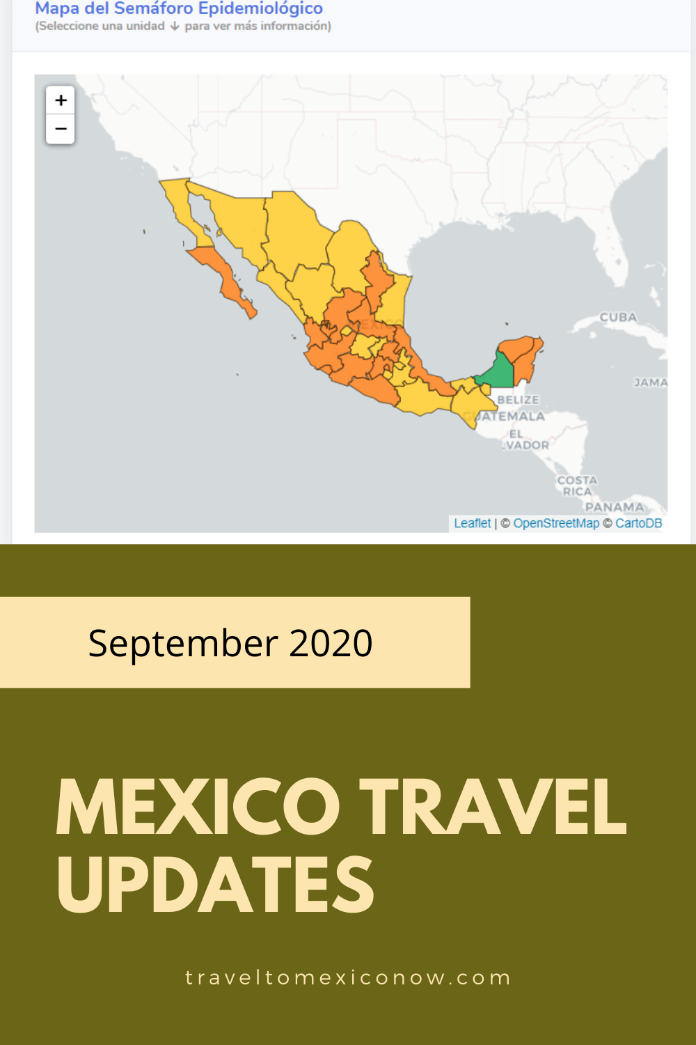 Mexico travel updates September 2020