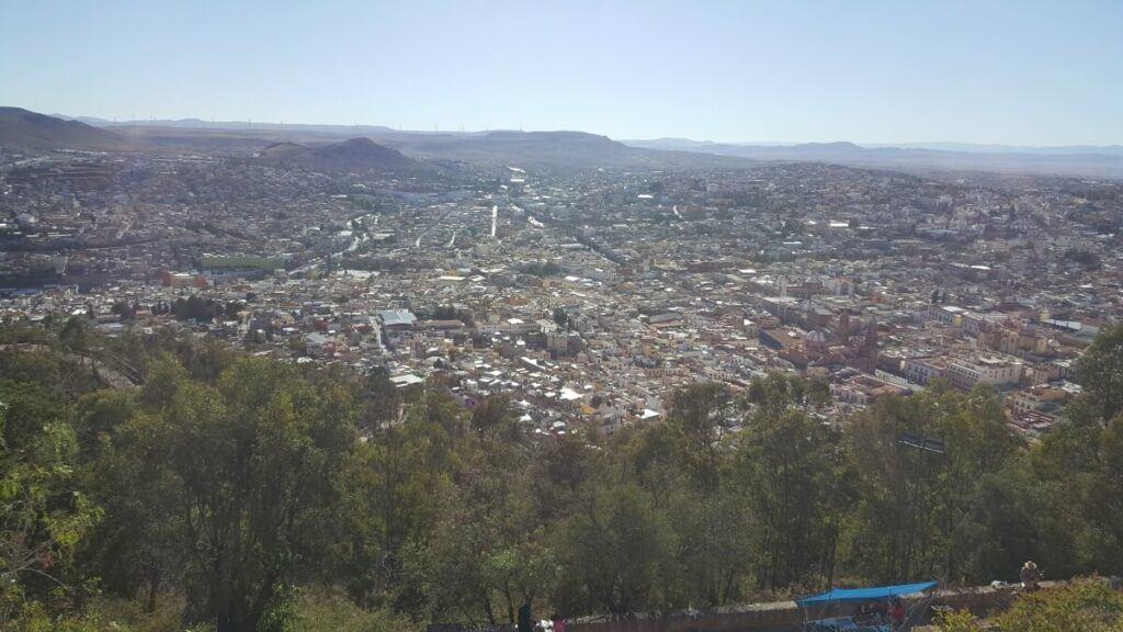 Observation deck on top of the Cerro de la Bufa.