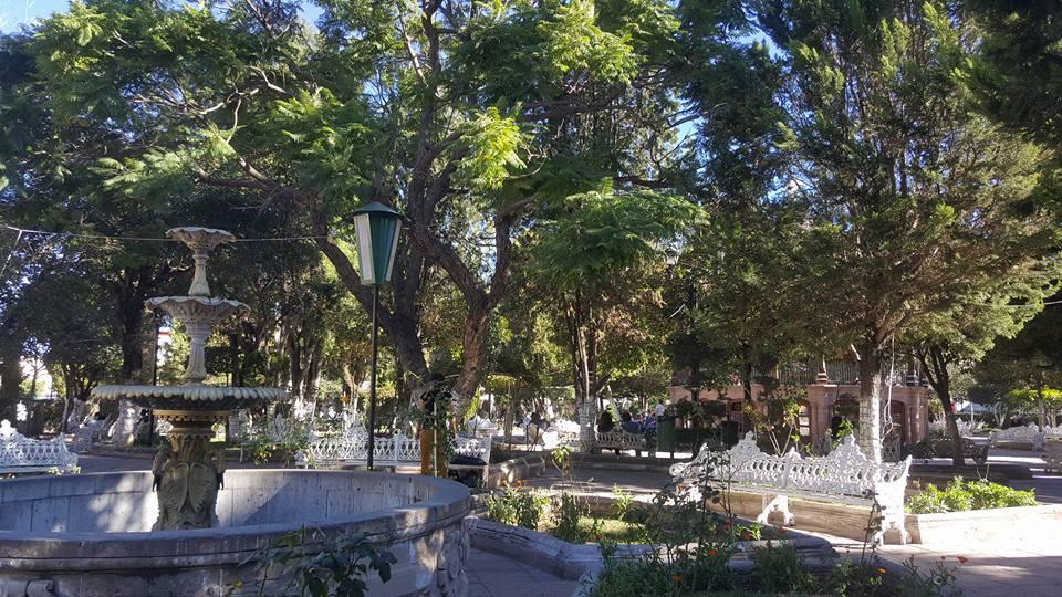 Main plaza in Jerez, Zacatecas.