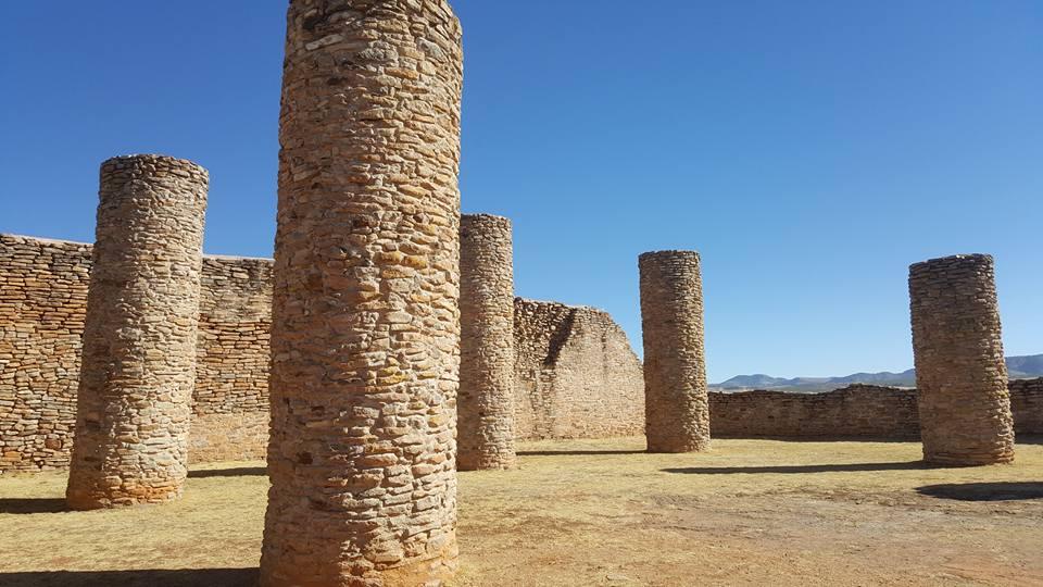 Columns in La Quemada, Zacatecas.