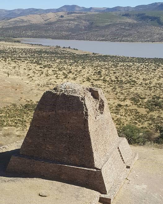 Main pyramid in La Quemada, Zacatecas.