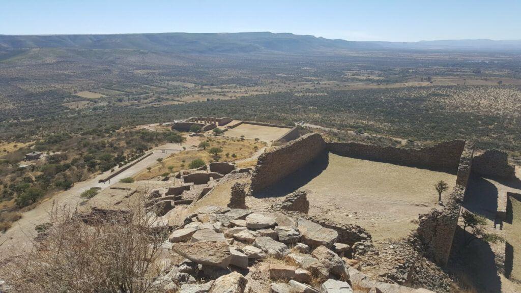 View from atop La Quemada, Zacatecas.