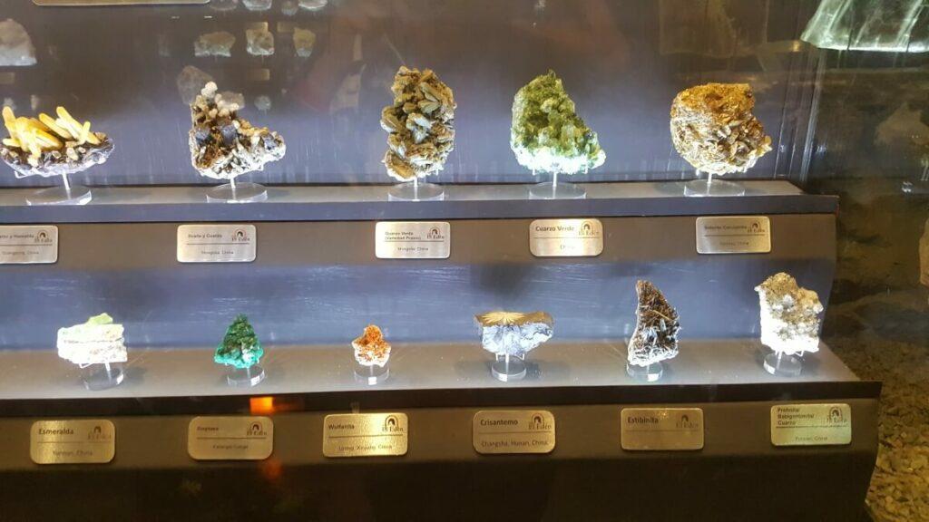 Various precious stones.