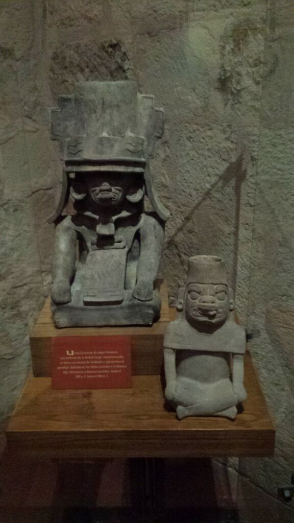 Ancient Zapotec statues.