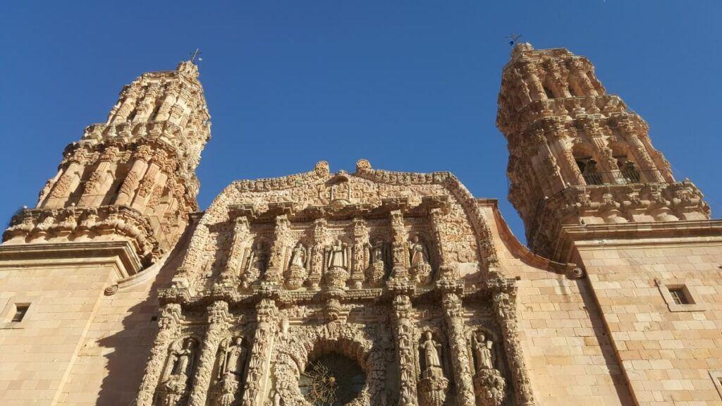 Zacatecas cathedral facade.