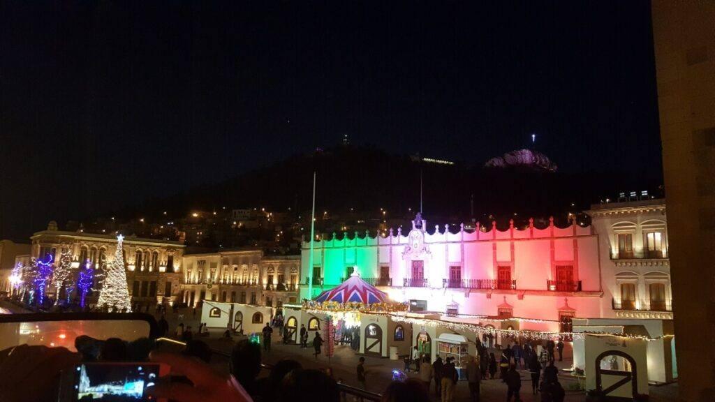 Zacatecas City Hall at night.