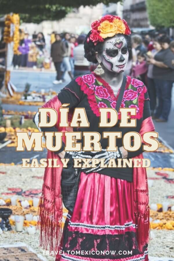 Woman dressed as a catrina.