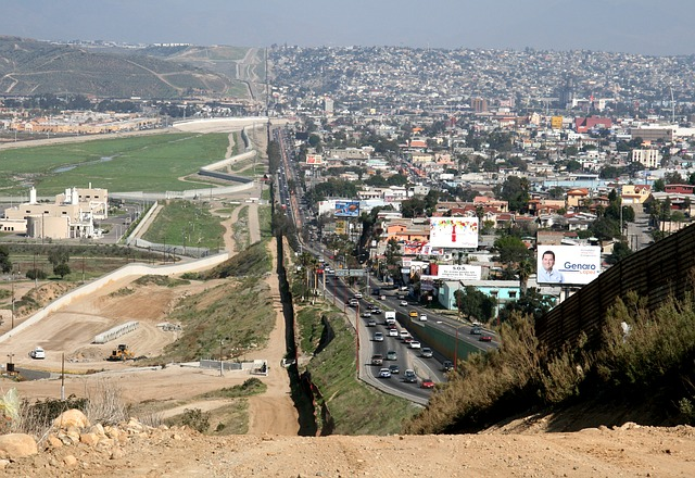 Border between Mexico and the U.S.
