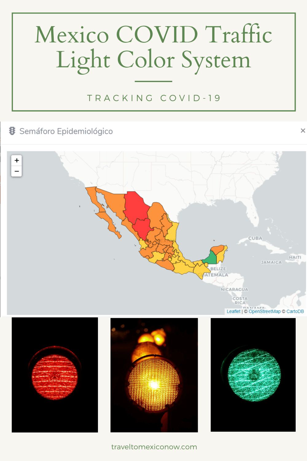 Mexico COVID Traffic Light Color System.