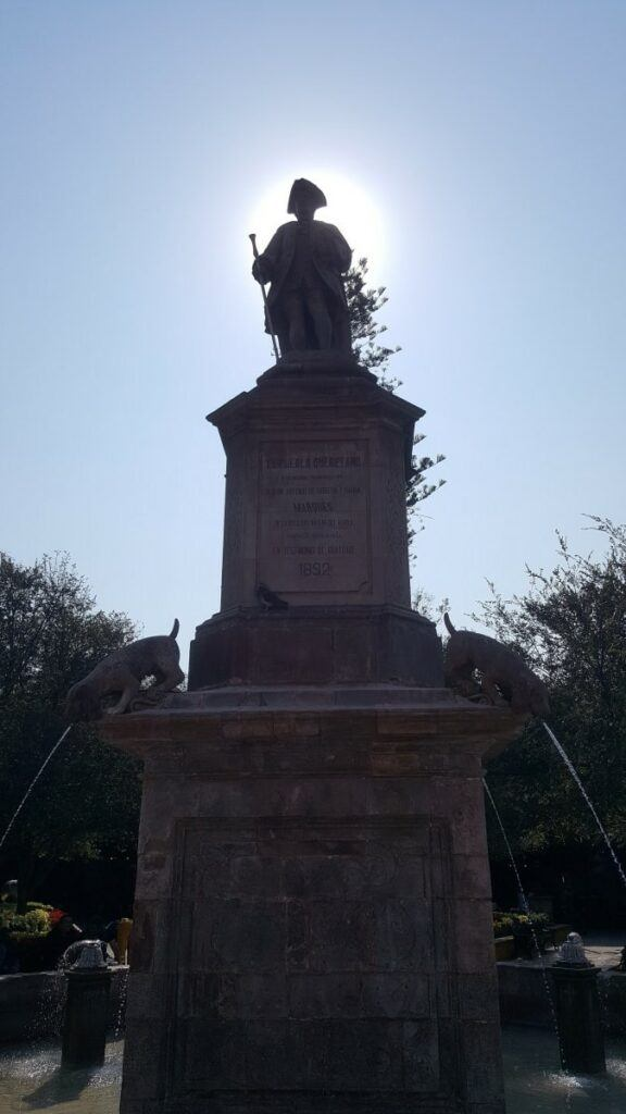 Statue of an important figure in Queretaro's history.