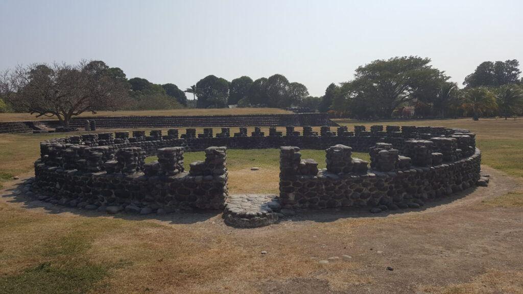 A Totonac circular stone structure.