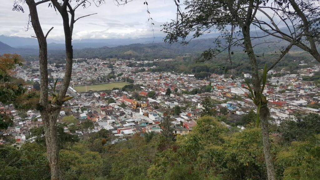 View of Coatepec from the lookout.