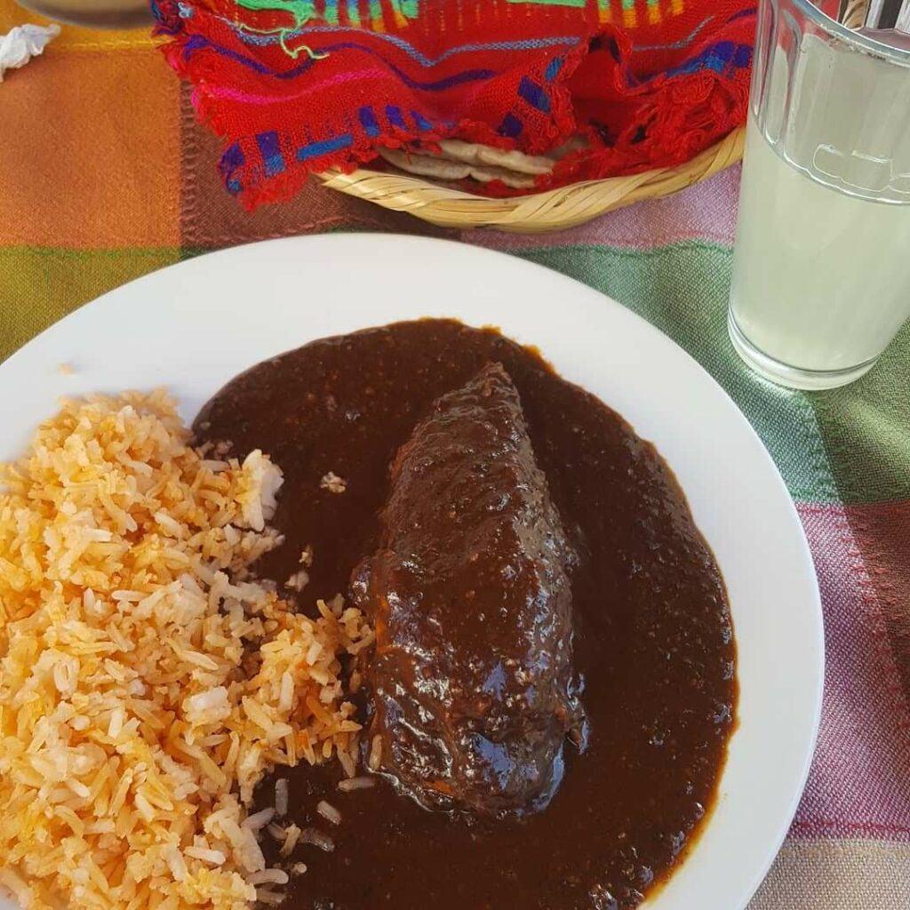 Mole and rice.