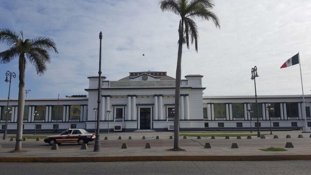 A whitewashed building in Veracruz.